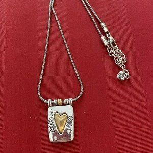 Brighton REMEMBER YOUR HEART Gold/Silver Necklace